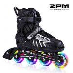 2pm Sports Brice Taille réglable en ligne de patins en ligne à pleine lumière LED roues, Rollers en ligne pour pour Enfants, Femmes et Hommes de la marque 2pm S TOP 2 image 0 produit