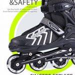 2pm Sports Brice Taille réglable en ligne de patins en ligne à pleine lumière LED roues, Rollers en ligne pour pour Enfants, Femmes et Hommes de la marque 2pm S TOP 2 image 2 produit