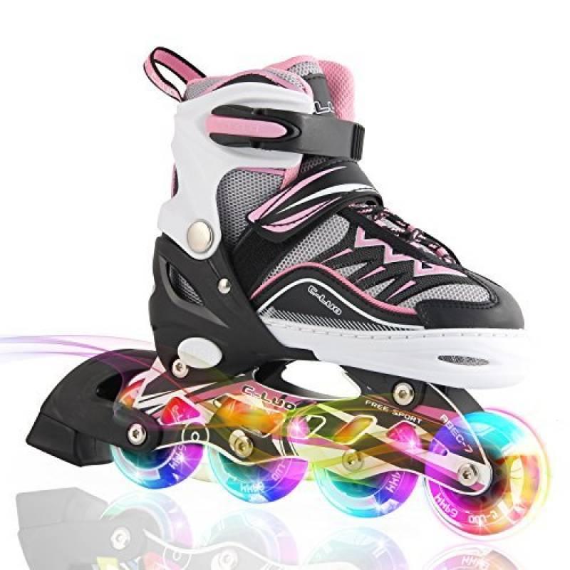 2pm Sports Ciro enfants rollers en ligne de la série Kuxuan, doté de roues LED illuminées, 4 raille réglable, light up inline skates pour les filles et les garç TOP 6 image 0 produit