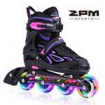 2pm Sports Vinal Size Patins en ligne réglables en violet, roues LED spéciales, Rollers en ligne amusants pour filles, enfants et femmes, Start Skating Today! d TOP 5 image 0 produit