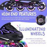 2pm Sports Vinal Size Patins en ligne réglables en violet, roues LED spéciales, Rollers en ligne amusants pour filles, enfants et femmes, Start Skating Today! d TOP 5 image 1 produit