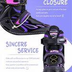 2pm Sports Vinal Size Patins en ligne réglables en violet, roues LED spéciales, Rollers en ligne amusants pour filles, enfants et femmes, Start Skating Today! d TOP 5 image 2 produit