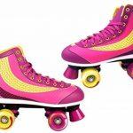Patins à Roulettes Taille 37383940neuf Violet Rose pour Enfant Roulements ABEC 5de Top Design de la marque Selltex TOP 3 image 0 produit
