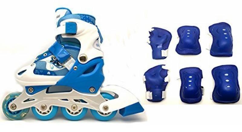 Rollers pour Enfants - lot de protection complet - taille ajustable - 3 couleurs au choix de la marque Chao Ku TOP 3 image 0 produit